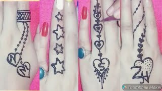 Download Easy finger tatto mehndi design || tatto mehndi design || Video