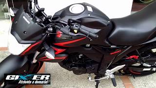 Download Suzuki gixxer 2018, prizes in India (New Color black red) Video