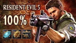 Download RESIDENT EVIL 5 - 100% Speed RuN (All BSAA Emblems, Treasures, Weapons) Video