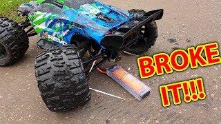 Download Traxxas E-Revo VS X-Maxx BROKE IT in 30 Seconds!!! Video