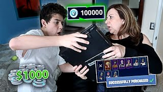 Download Kid Buys $1,000 Worth of V-Bucks on FORTNITE with Mom's Credit Card (SHE FREAKED OUT) Video