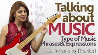 Download English conversation about Music – Type of Music, Phrases & Expressions ( Free English Lesson) Video