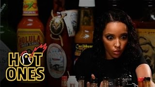 Download Tinashe Talks NFL Dances and 2015's Sexiest Songs While Eating Spicy Wings | Hot Ones Video
