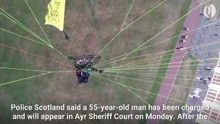 Download Paragliding Trump protester arrested Video