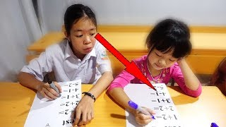Download Hunter Kids Go To School Learn Colors MATH | Classroom Funny Nursery Rhymes Video