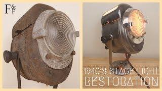 Download Vintage 1940's French Cremer Theatre Stage Light Restoration Video