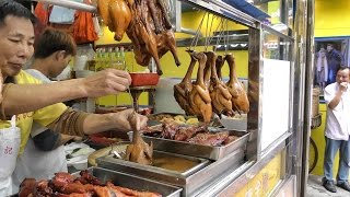 Download Hong Kong Street Food. The Roasted Bird Dipped in Sauce Video