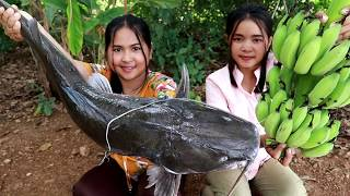 Download Big Fish With Banana Sweet Sour Soup Recipe - Cooking Banana Fruit - My Food My Lifestyle Video