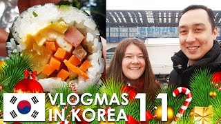 Download VLOGMAS IN KOREA #11 - Helping Korean university students, and KTX Bullet Train snack time! Video