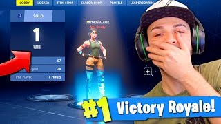 Download Ali-A REACTS to his 1st Victory Royale in Fortnite... (BIG NOOB!) Video