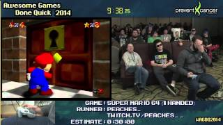 Download Super Mario 64 :: SPEED RUN (0:22:22) *16-Star/1-handed* by PEACHES #AGDQ 2014 Video
