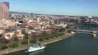 Download Helicopter flight over Portland Video
