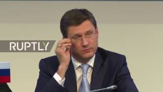 Download LIVE: Novak holds press conference with OPEC SG Barkindo in Vienna Video