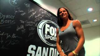 Download Female Boxer Danyelle Wolf Flexing Biceps Video