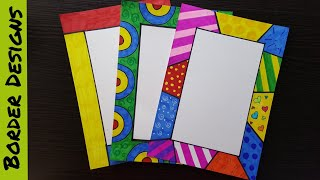 Easy 2 Border Designs On Paper Border Designs Project Work