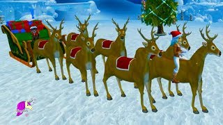 Download Reindeer Training To Fly in Christmas Winter Village Star Stable Online Horse Video Game Video