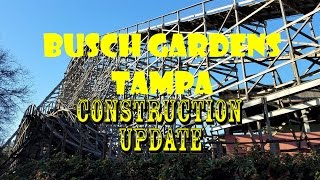 Download Busch Gardens Tampa General Park Tour / Construction Update 2.19.17 Food, rides, & markers?! Video