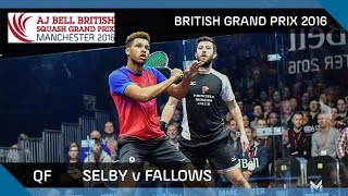 Download Squash: Selby v Fallows - British Grand Prix 2016 QF Highlights Video