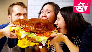 Download We Tried To Re-Create This Giant 30-Pound Burger •Eating Your Feed •Tasty Video