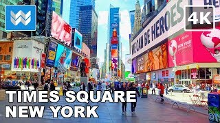 Download Walking tour of Times Square in Midtown Manhattan, New York City Travel Guide 【4K】 🗽 Video
