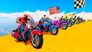 Download FUN LEARN COLORS POLICE MOTORCYCLES For Children Cartoon 3D Animation Video