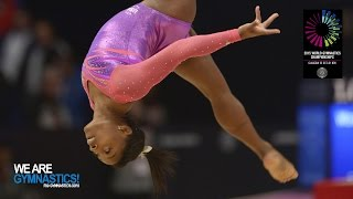Download BILES Simone (USA) - 2015 Artistic Worlds - Qualifications Floor Exercise Video