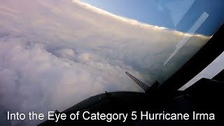 Download Flying into the eye of Hurricane Irma Video