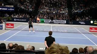 Download Richard Gasquet vs Jack Sock - Court level view Video