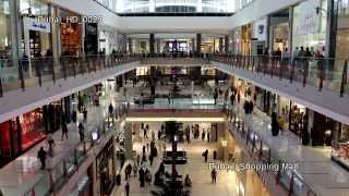 Download UHD Ultra HD 4K Video Stock Footage Dubai Largest Shopping Mall Center Aquarium Interior People Video