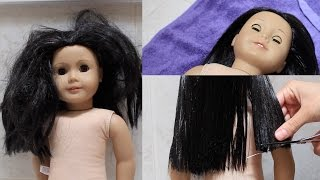 Download Fixing up an old AG doll! Video