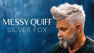 Download Silver fox . Messy Quif . Men`s Hairstyle Inspiration #2018 Video