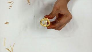 Download 2 Step Simple Earrings Model Making Video | Srivari Creations Video