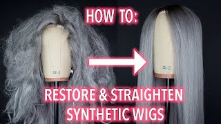Download How To Restore and Straighten A Synthetic Wig! Video