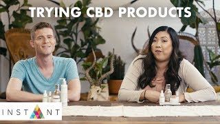 Download We Try CBD Products For The First Time • HIGH END Video