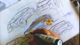 Download Car Sketch & Marker Render Tutorial by Swaroop Roy Video