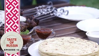 Download Grilled sheep's liver & Caucasian cheese in mountain paradise - Taste of Russia Ep.14 Video