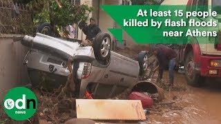 Download At least 15 people killed by flash floods near Athens Video