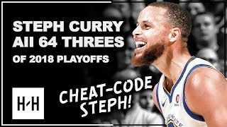Download Stephen Curry ALL 64 Three-Pointers in 2018 Playoffs, CHEAT-CODE Steph! Video