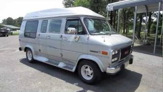 Download 1994 GMC Vandura G2500 Conversion Van Start Up, Engine, and In Depth Tour Video