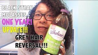 Download BLACKSTRAP MOLASSES GREY HAIR REVERSAL - 1 YEAR UPDATE! Video