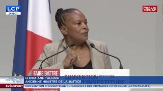 Download VIDEO. Discours intégral de Christiane Taubira au meeting de benoît Hamon Video