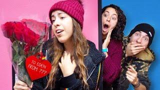 Download Her Secret Crush Sent her Flowers (Valentines Secret Admirer) Video