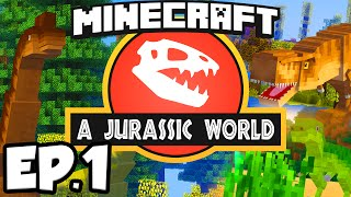 Download Jurassic World: Minecraft Modded Survival Ep.1 - DINOSAURS IN MINECRAFT!!! (Rexxit Modpack) Video