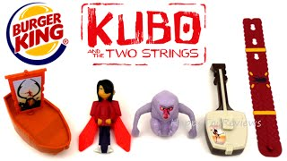 Download 2016 BURGER KING KUBO AND THE TWO STRINGS MOVIE KIDS MEAL TOYS LAIKA SET 5 KING JR KIDS COLLECTION 2 Video