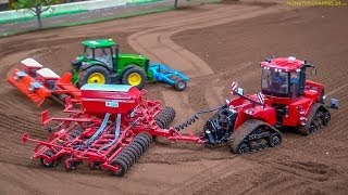 Download RC Tractors John Deere, Case and Fendt at work! Siku Farmland in Neumünster, Germany. Video