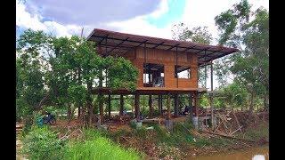 Download รีวิว สร้างบ้านในสวนริมน้ำ 2 ห้องนอน 2 ห้องน้ำ วิถีชีวิตแบบพอเพียง Video