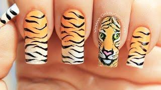 Download Decoración de uñas tigre animal print - Tiger animal print nail art Video