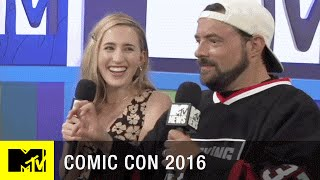 Download Kevin Smith & Harley Quinn Smith Chat About Yoga Hosers   Comic Con 2016   MTV Video