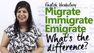 Download Migrate vs Immigrate vs Emigrate - What's the difference? ( Free English Vocabulary lesson) Video