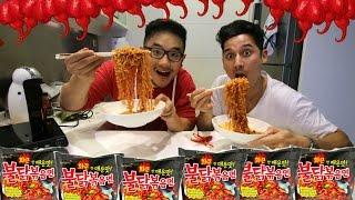 Download Hardcore Fire Noodle Challenge (Extract,Carolina Reaper, Samyang) W/ Nino Fernandez Video